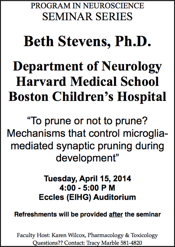 Beth Stevens seminar